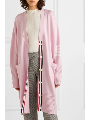 THOM BROWNE oversized striped merino wool cardigan