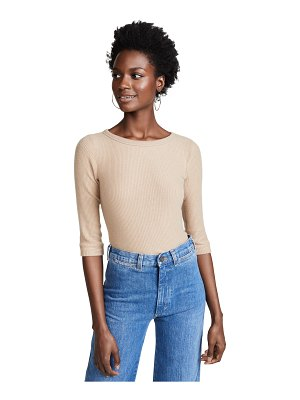 Three Dots ribbed 3/4 sleeve pullover