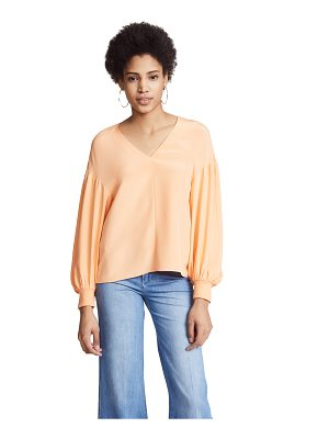 TIBI Balloon Sleeve Top