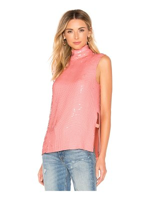 Tibi Beaded Turtleneck Shell Top
