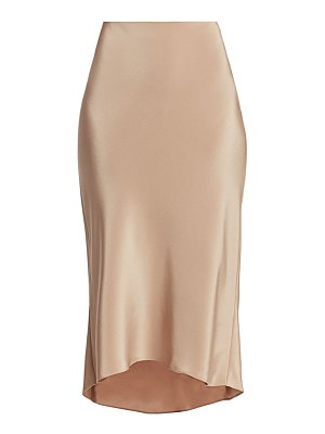 Tibi bias silk slip skirt
