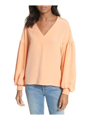 Tibi blouson sleeve four-ply silk top