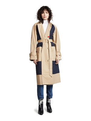 Tibi combo trench coat