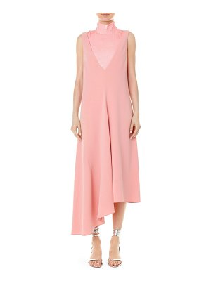Tibi deep v-neck asymmetric draped jumper