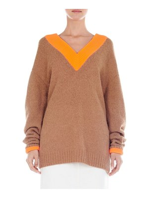 Tibi deep v-neck sweater