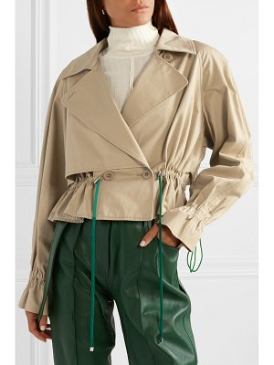 Tibi finn cropped cotton-twill jacket