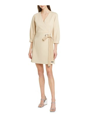 Tibi grommet detail faux wrap dress