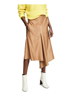 Tibi high waisted drape skirt
