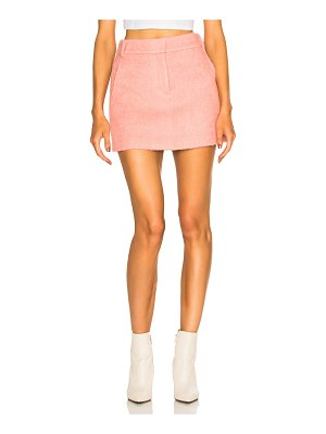 Tibi Luxe Mohair Coating Mini Skirt