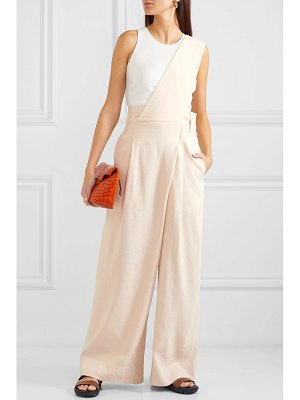 Tibi one-shoulder linen-blend twill jumpsuit