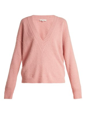 Tibi Oversized V Neck Alpaca Blend Sweater