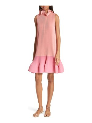 Tibi pleating sculptured sleeveless dress