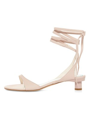 Tibi Scott Ankle-Tie Leather Sandals