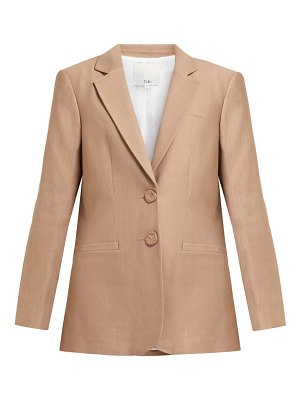 Tibi sculpted button single breasted twill blazer