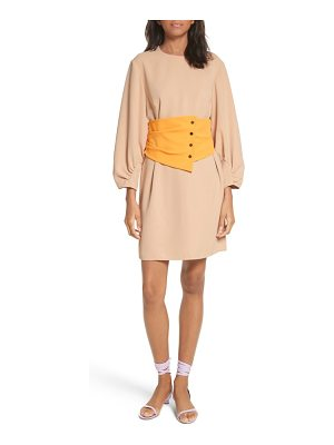 Tibi shirred sleeve corset dress
