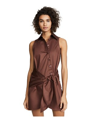Tibi shirt dress with tie detail