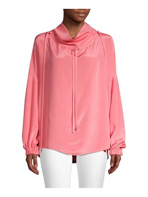 Tibi silk drawstring blouse