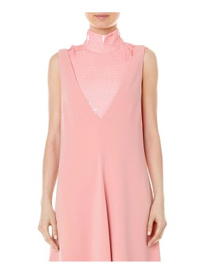 Tibi silk sequin turtleneck shell top