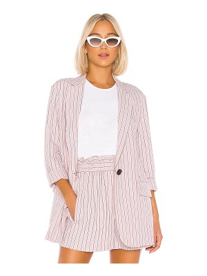 Tibi stripe viscose twill oversized blazer