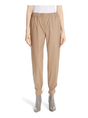 Tibi tropical drawstring hem pants