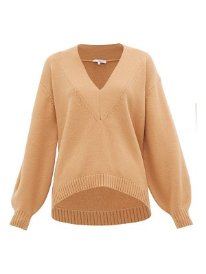Tibi v-neck wool-blend sweater