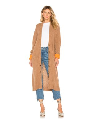 Tibi Zip Up Long Cardigan
