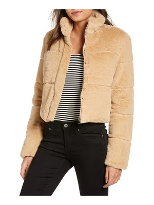 tiger Mist bridget faux fur puffer jacket