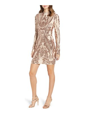 tiger Mist lola baroque sequin open back dress