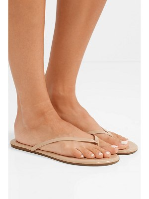 TKEES lily patent-leather flip flops