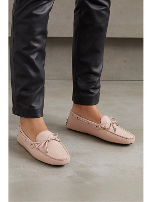 Tod's city gommino lizard-effect leather loafers