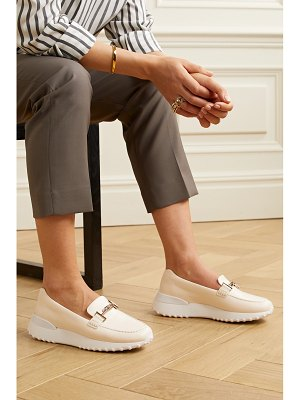 Tod's fondo sport leather loafers