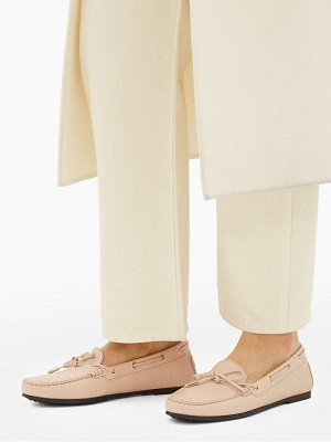 Tod's gommino lizard-embossed leather loafers