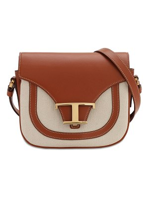 Tod's Leather & canvas shoulder bag
