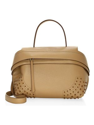 Tod's medium wave gommini leather satchel