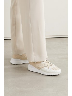 Tod's perforated color-block leather sneakers