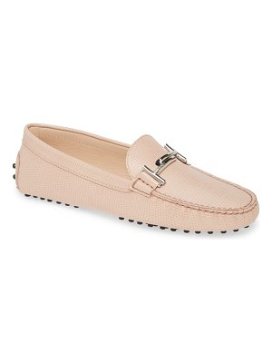 Tod's reptile embossed driving moccasin