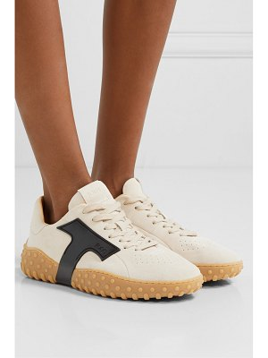 Tod's rubber-trimmed suede sneakers