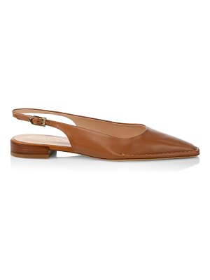 Tod's square-toe leather slingback flats
