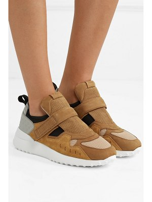 Tod's suede, leather and mesh sneakers