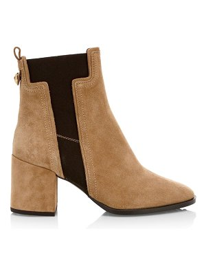 Tod's elastic t suede chelsea boots