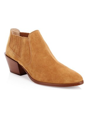 Tod's tex suede short ankle boots