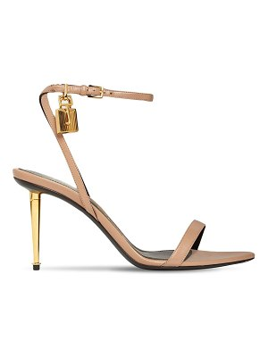 Tom Ford 85mm padlock leather sandals