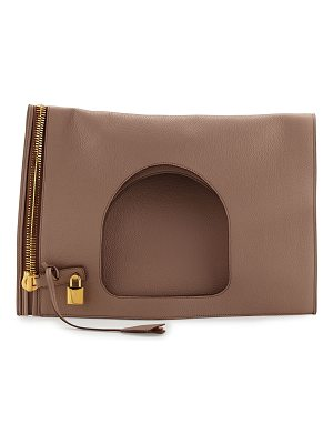 TOM FORD Alix Leather Padlock & Zip Hobo Bag