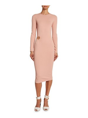 Tom Ford Circle-Cutout Crepe Cocktail Dress