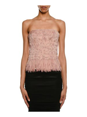 TOM FORD Degrade Feather Bustier Top