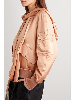 Tom Ford draped silk-satin bomber jacket