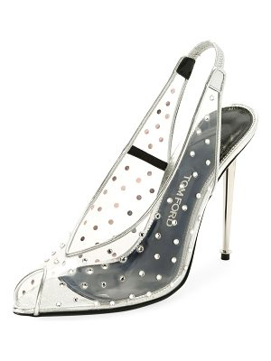 Tom Ford Embellished Metallic Slingback 105mm Pump