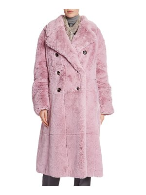 Tom Ford Faux-Fur Double-Breasted Big Coat