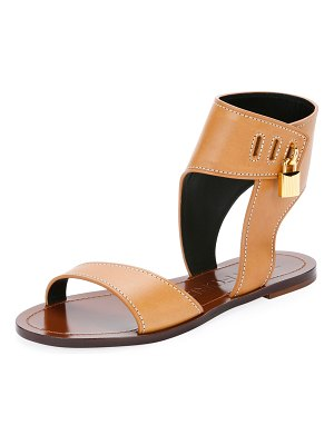 Tom Ford Flat Leather Sandals with Padlock