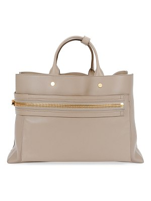 Tom Ford Leather Big Zip Satchel Bag